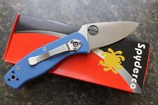 Spyderco C136GPBL Persistence Limited Edition Sprint Run Blue G-10 Folding Knife