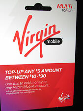 Virgin Mobile $35 Top-Up Refill Card