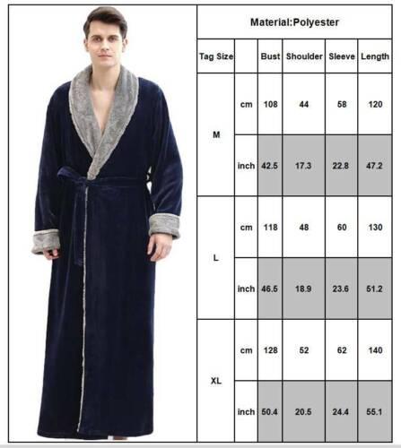Mens Womens Soft Luxury Dressing Gown Bathrobe Warm Fleece Hooded Cozy Bath Robe
