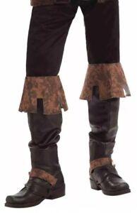 Détails sur Renaissance Foire de Luxe Bottes Marron Médiéval Sur Chaussures Neuf en Paquet