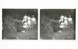 Francia snapshot Amateur Foto Stereo L7n5 Vintage Placca Da Lente
