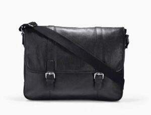 314e0509f3b5d NWT Cole Haan Men s Wayland Black Pebbled Leather Messenger ...