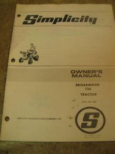 simplicity broadmoor 738tractor operators owners manual ebay rh ebay com simplicity owners manual op15a simplicity 38 dehumidifier owner's manual