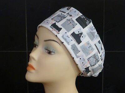 MY BLUE DOG Women Men SCRUB HAT HAIR NURSE DR COOK VET CHEMO Toggle Adjustable