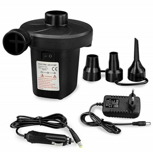 Electric Air Pump Inflator for Inflatables Camping Bed pool 240V//12V  EU Plug