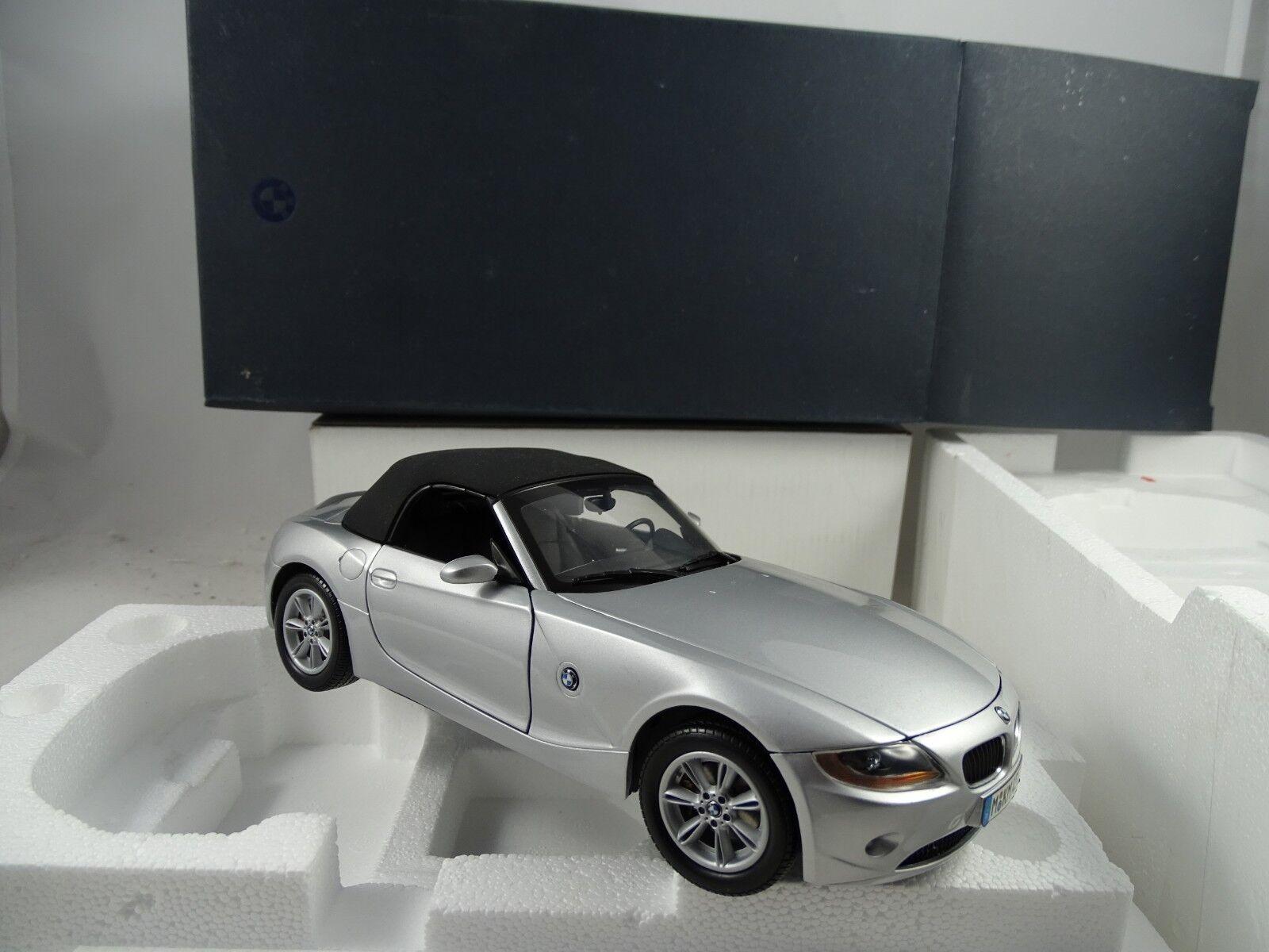 1 18 Musée Modèle BMW z4 Cabriolet Argent-RARE §