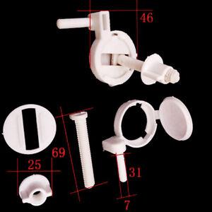 1set Plastic Toilet Seat Screws Fixings Fit Toilet Seats Hinges Repair Parts SZ