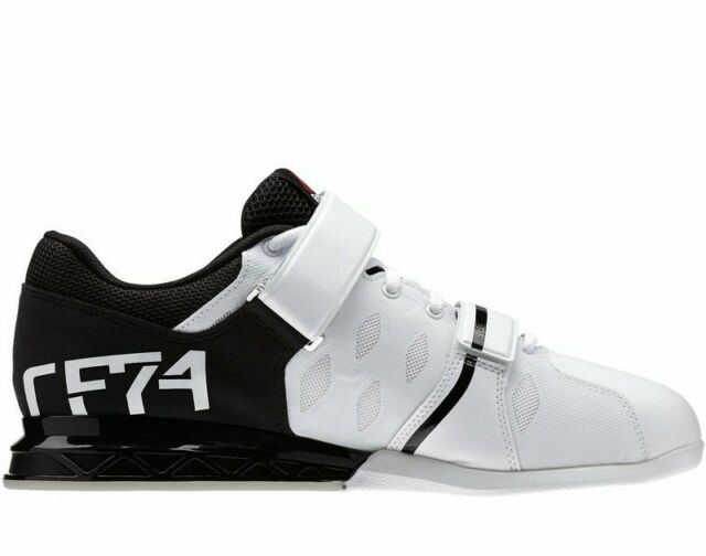 REEBOK LIFTER PLUS 2.0 CROSSFIT NANO MENS WHITE SHOES SIZE M43655 Weightlifting