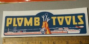 Plomb-Tools-War-Time-WW2-decal-for-restoration-of-vintage-tool-box-Price-Cut