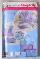 Simplicity Pattern 4495 Spa Accessories, Mitts & Boots in 3 Sizes S,M,L - Unused
