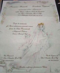 Partecipazioni Matrimonio Pergamena.Partecipazioni Inviti Matrimonio Pieghevole Monopagina Pergamena