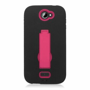 Eagle-Cell-Hybrid-Armor-Skin-Cover-for-BLU-Advance-4-5-A310-Hot-Pink-Black