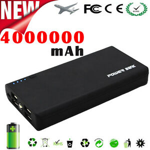 4000000mAh Power Bank 4 USB Backup External Battery Pack Charger for Cell Phone