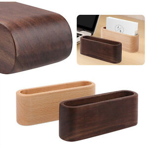 Office & School Supplies 1pc Wooden Business Card Holders Note Holder Display Card Stand Holder Office Desk Organizer Desk Accessories & Organizer