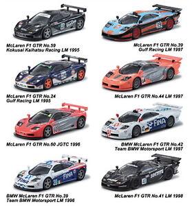 mclaren f1 gtr 8set complete 1/64 kyosho racing minicar collection