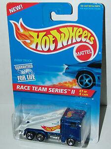 Hot-Wheels-Race-Team-II-Ramp-Truck-Kenworth-Sp5-039-s-Metal-Base-392-Malaysia-1996