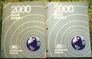 2000 Ford Escort Shop Service Manual Vol 1 2 Set | eBay