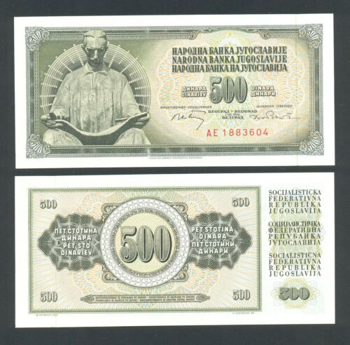 YUGOSLAVIA   500 Dinara 1970  UNC  P84b  NIKOLA TESLA   with security thread