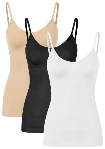 1-3 St Damen Shapewear Hemdchen formende Sportunterwäsche Sportunterhemd