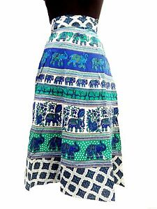 Short Knee Length Wrap Around Hippie Gypsy Skirt Rapron Indian Cotton dress