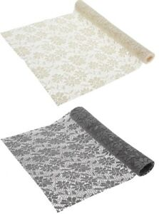 Grey-amp-Cream-Table-Runner-1-5-Meters-Long-Elegant-5ft-Length-x-45cm-Wide