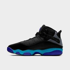 Mens Air Jordan 6 Rings Basketball Shoes (Black/True Red/Flint Grey/Aquatone)