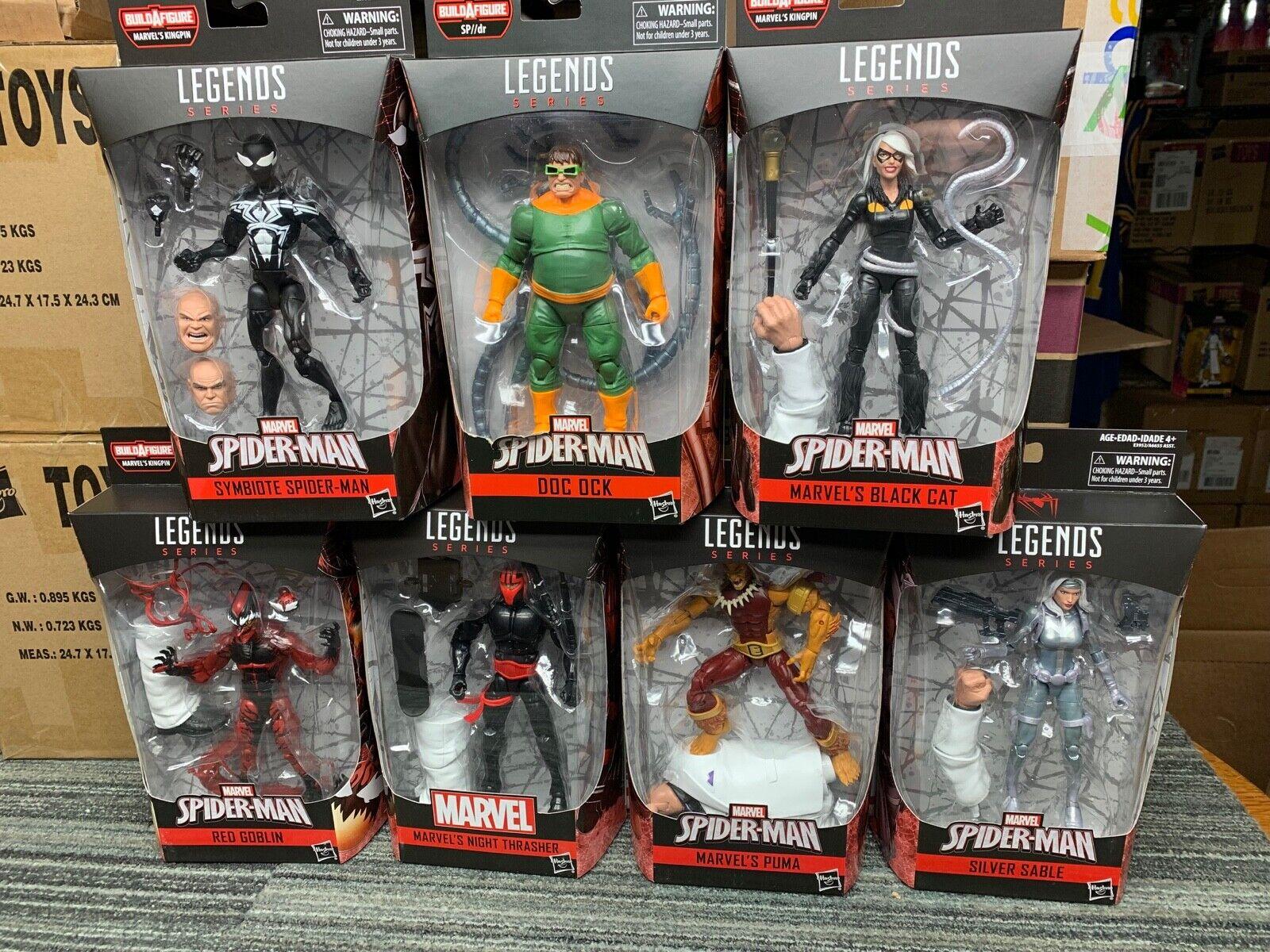 Marvel Legends capo Onda Conjunto de 6 y Doc Octopus abolladuras con los paquetes plata Sable