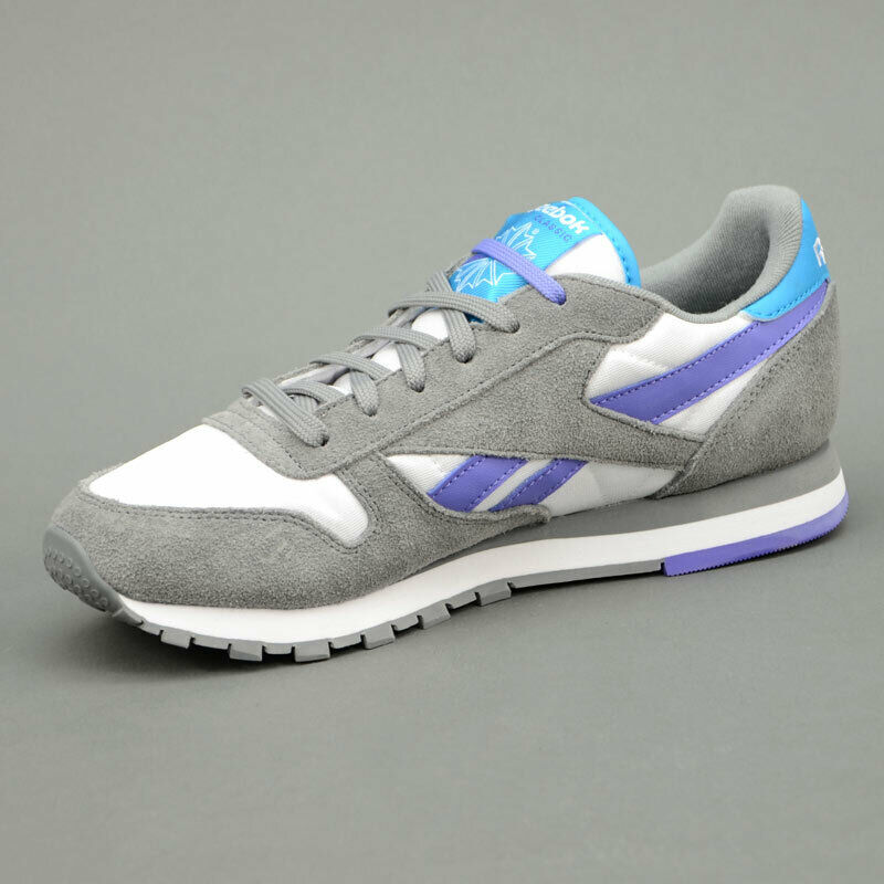 Reebok CLASSIC LEATHER LEATHER LEATHER SEASONAL  grey purple mod. V60295 d9d3bf