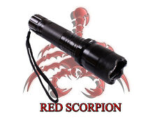 Red Scorpion Metal Stun Gun 1101 - 260 Million Volts Rechargeable LED Flashlight