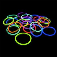 100 Pack 8 Glow Stick Bracelets Neon Colors Party Favors - Free Shipping
