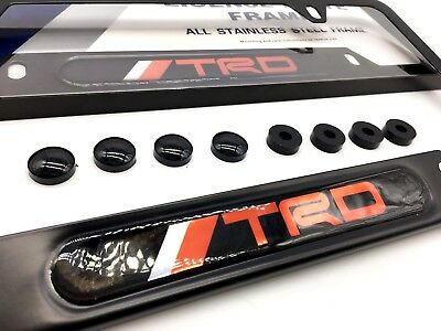 TRD LICENSE PLATE FRAMES TACOMA TUNDRA TRUENO MR2 SCION FRS IA 4runner 86 RAV4