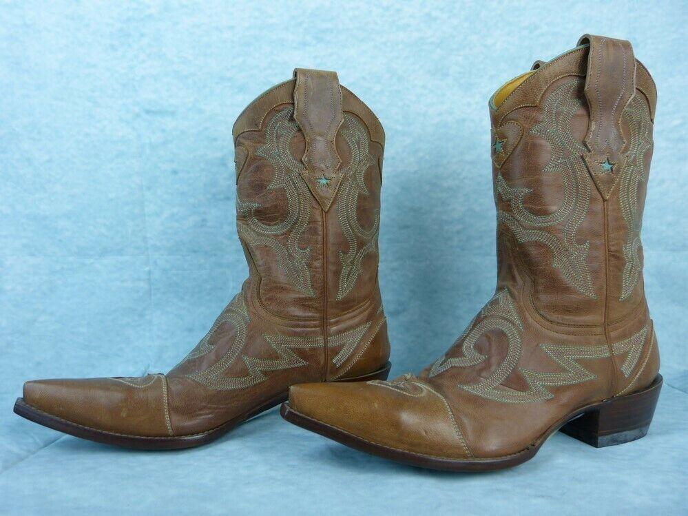 MEXICANA OLD GRINGO Stiefel cuir Pointure  37 Fr   Pointure 7 US-Surpiqure Turquoise df0b9c