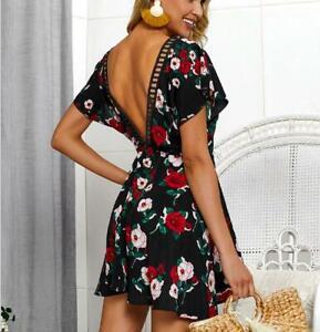 Evening-Boho-Maxi-Beach-Floral-Cocktail-Women-039-s-Summer-Sundress-Dress-Short