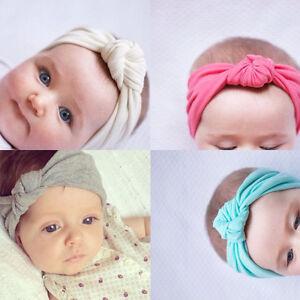 Baby Bow Hairband PhotographyToddler KidsTurban Knot Rabbit Headband Headwear