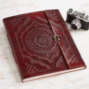 Indra Commerce Équitable Fait Main XL en cuir estampé Album Photo Scrapbook 2nd Qualité  </span>