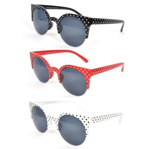 Trapunta Vintage 50s/60s Stile Rotondo a Pois Gatti Occhio Occhiali Da Sole Rockabilly Occhiali