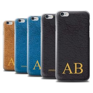 best cheap 3108b a9864 Details about Personalised Custom Leather Effect Phone Case for Apple  iPhone 6S/Initial Cover