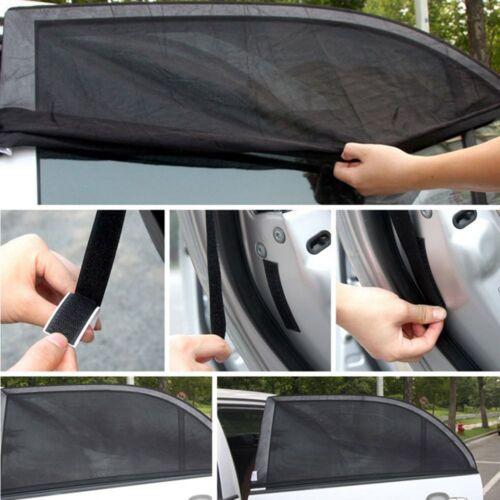 2x Auto hintere Seitenfenster Sonnenblende Shade Mesh Cover Schild