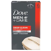 Dove Men + Care Body - Face Bar, Deep Clean 4 Oz, 6 Ea (pack Of 4) on sale