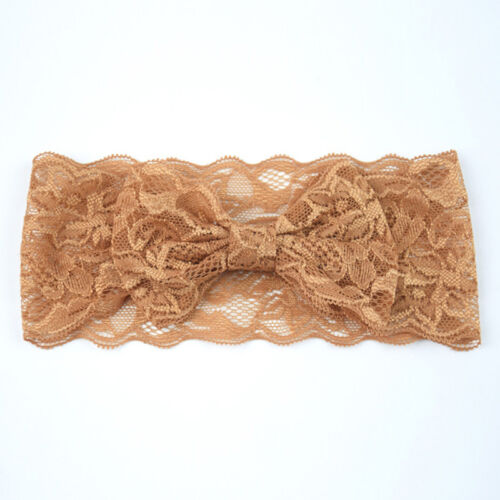 Girl Baby Headband Toddler Lace Bow Flower Hair Band