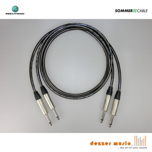 SPIRIT XXL NEUTRIK X-Sommer Cable Klinke 6,3 gerade-ger 2x 3m Instrumentenkabel