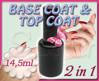 SMALTO TWIN COAT UV SEMIPERMANENTE BASE + TOP COAT 2in1 RICOSTRUZIONE UNGHIE GEL