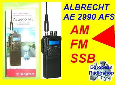 ALBRECHT AE 2990 AFS CB/SSB/FM/AM/ PORTABLE TRANSCEIVER NEW