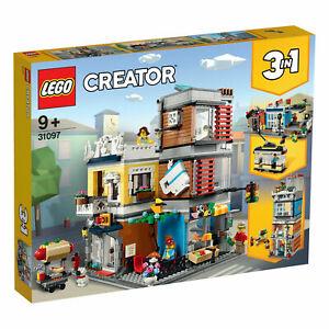 Lego ® Creator 31097 3-in-1-set Maison De Ville Avec Boutique Pour Animaux & Café Réservations-afficher Le Titre D'origine Des Friandises AiméEs De Tous