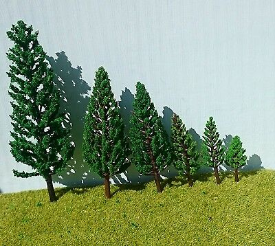 Poplar Fir Tower Trees - Railway Architecture Model Making 3-8cm-16cm high
