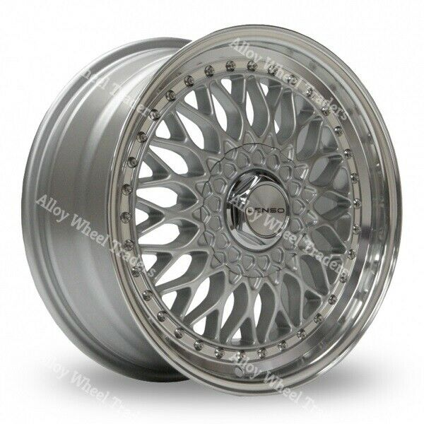 "15"" Silver BSX Alloy Wheels Fits Alfa Romeo 147 156 164 75"