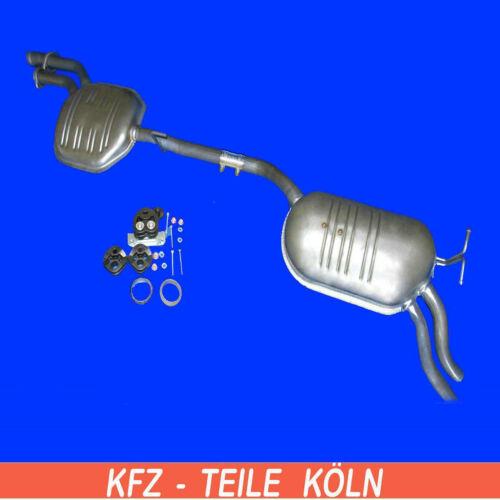 W210 E 280 E 320  Mittel Mercedes Endschalldämpfer Auspuff +Set E-Klasse