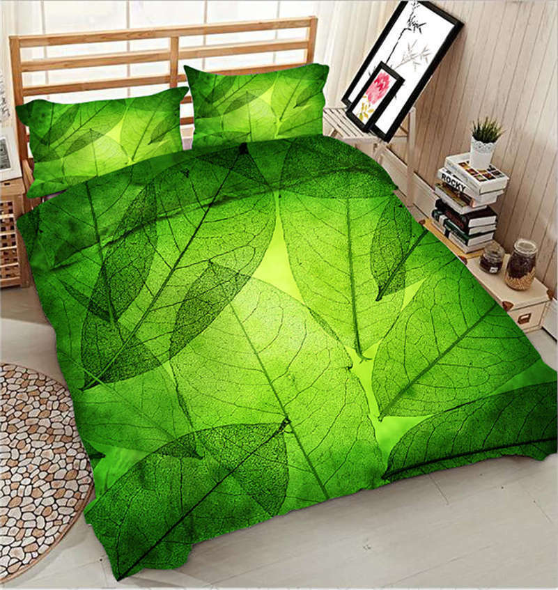 Clear Nervation 3D Printing Duvet Quilt Doona Covers Pillow Case Bedding Sets