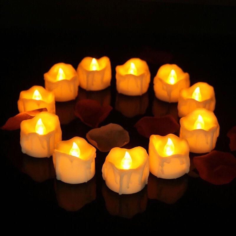 12Pcs LED Kerzen, Pretop LED Tee Lichter Flammenlose Kerzen mit Timer, Batterie