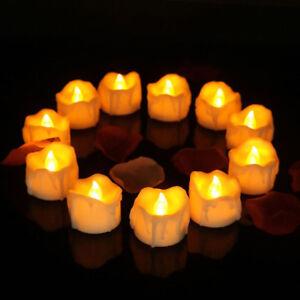 12x LED Kerzen Pretop LED Tee Lichte flammenlose Kerzen mit Timer Automatikmodus